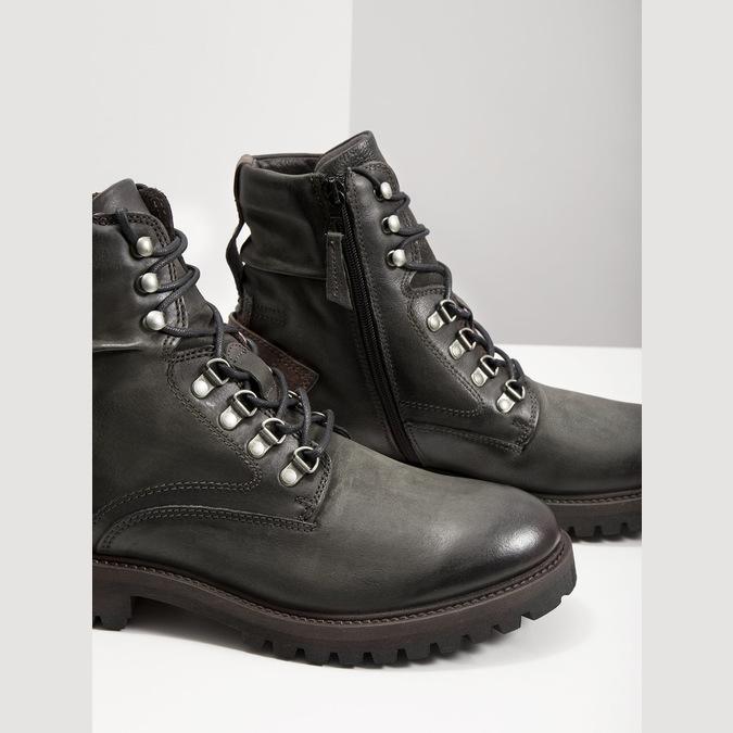 Členková kožená obuv bata, šedá, 896-2663 - 14