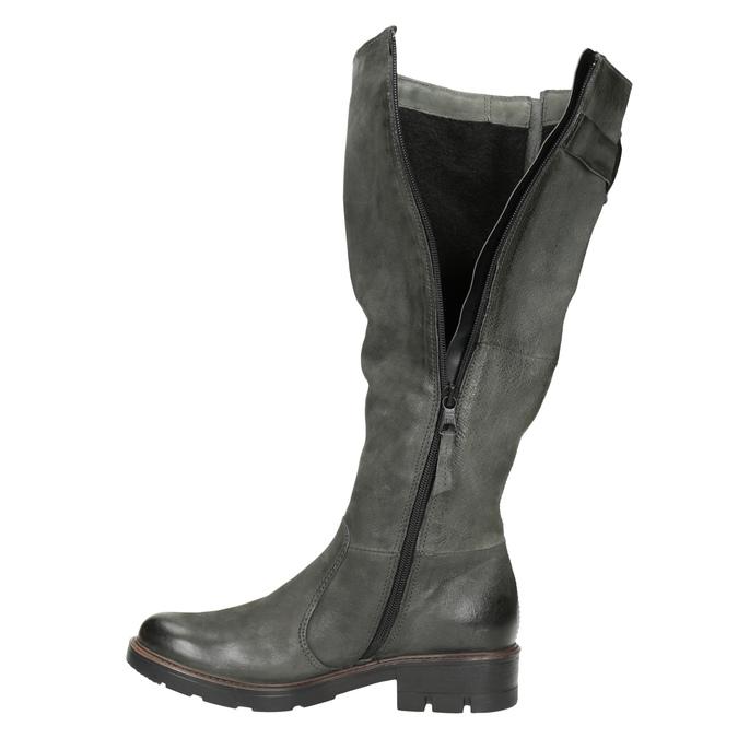 Kožené čižmy s masívnou podrážkou bata, šedá, 596-9662 - 15