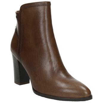 Kožené členkové čižmy bata, hnedá, 794-4650 - 13