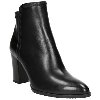 Dámska kožená členková obuv bata, čierna, 794-6650 - 13