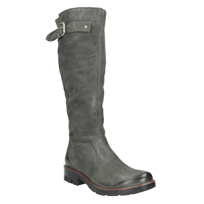 Kožené čižmy s masívnou podrážkou bata, šedá, 596-9662 - 13