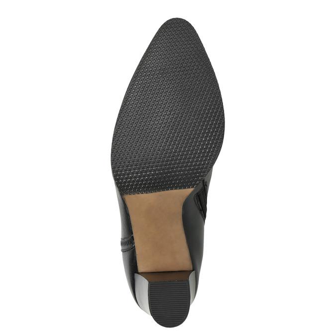 Dámske kožené členkové čižmy bata, čierna, 794-6650 - 19
