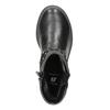 Dievčenské čižmy s kamienkami mini-b, čierna, 291-6395 - 15