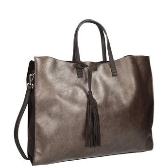 Dámska kabelka so strapcami bata, hnedá, 961-8200 - 13