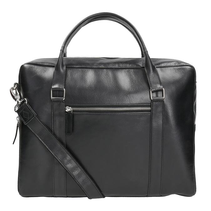 Čierna kožená taška royal-republiq, čierna, 964-6051 - 16