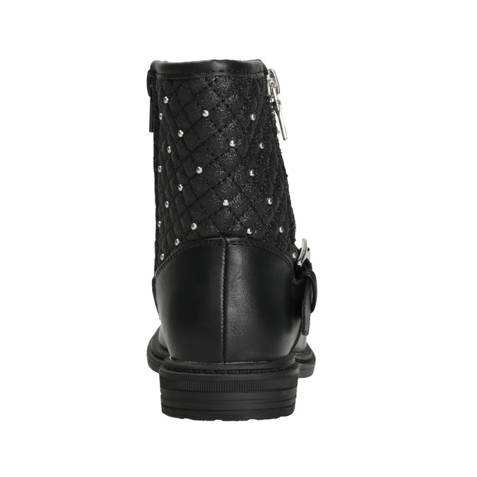 Dievčenské čižmy so zipsom mini-b, čierna, 291-6396 - 16