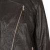Dámska kožená bunda s asymetrickým zipsom bata, hnedá, 974-4177 - 16