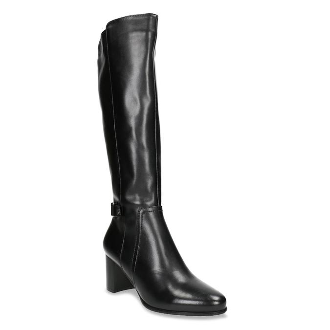 Čižmy na stabilnom podpätku bata, čierna, 694-6638 - 13