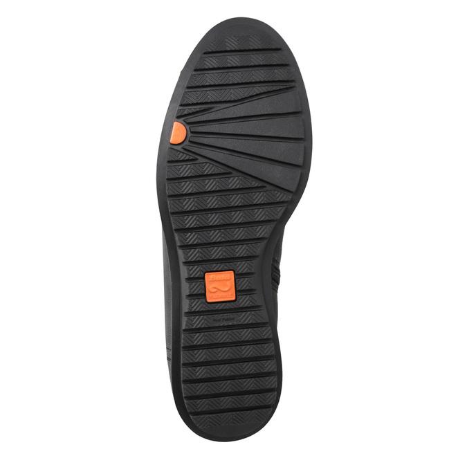 Dámske kožené čižmy so zipsom flexible, čierna, 594-6651 - 17