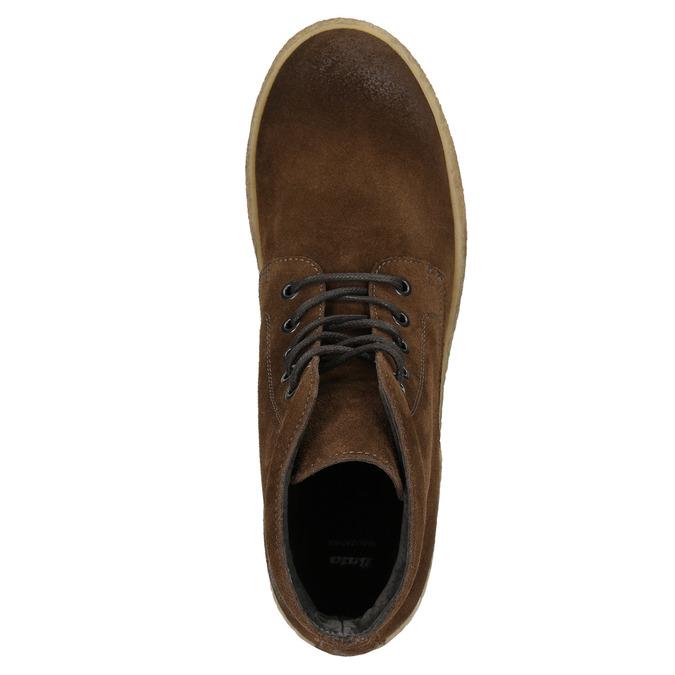 Hnedá kožená členková obuv bata, hnedá, 843-3632 - 26