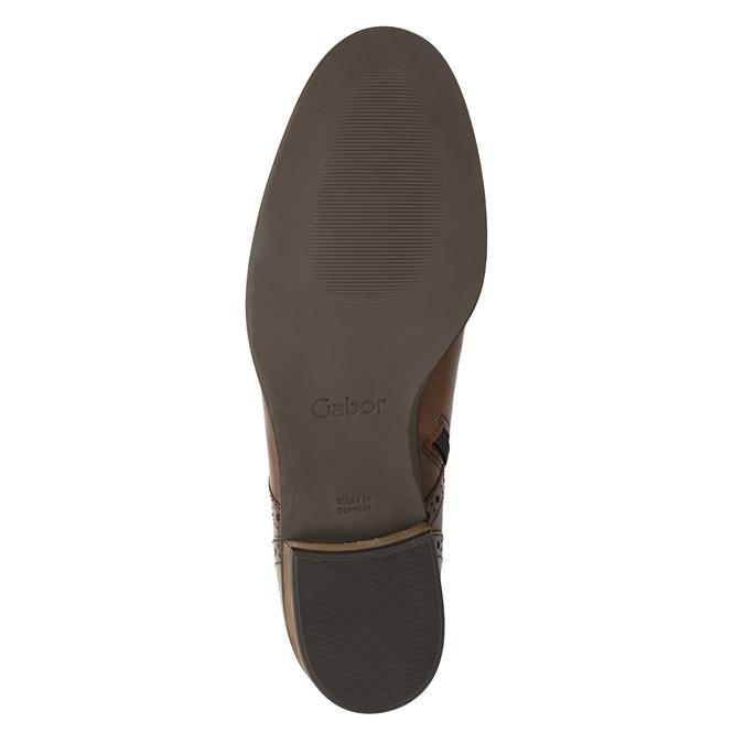 Kožená dámska členková obuv gabor, hnedá, 526-3038 - 17