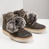 Dámska zimná obuv so šnurovaním weinbrenner, šedá, 596-2674 - 14