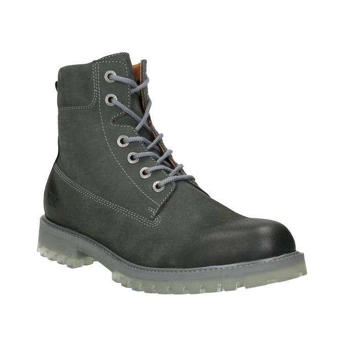 Pánska kožená obuv s výraznou podrážkou weinbrenner, šedá, 896-2702 - 13