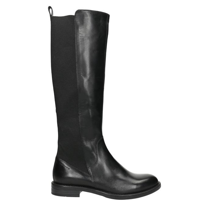 Dámske kožené čižmy bez zipsu vagabond, čierna, 594-6003 - 15