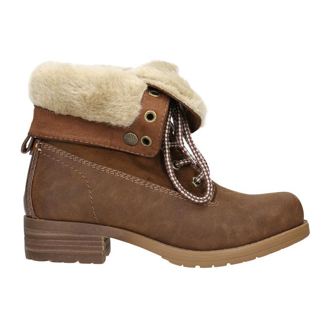 Členková obuv s kožúškom bata, hnedá, 591-4618 - 15