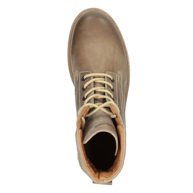 Hnedá kožená členková obuv weinbrenner, 896-8702 - 15