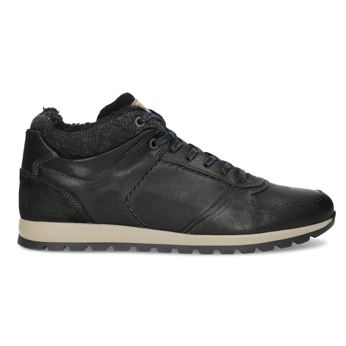 Pánske kožené tenisky so zateplením bata, čierna, 846-6646 - 19