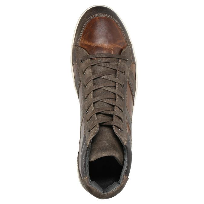 Kožené členkové tenisky bata, hnedá, 846-4644 - 15