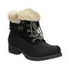 Členková obuv s kožúškom bata, čierna, 591-6618 - 13