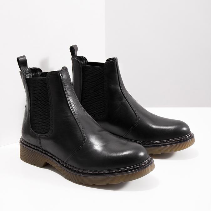 Kožená dámská Chelsea obuv bata, čierna, 594-6680 - 18