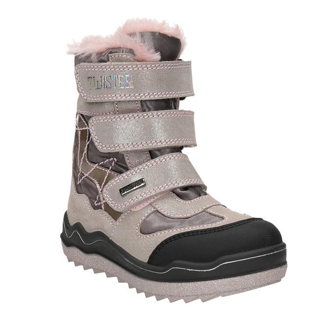 Ružová dievčenská zimná obuv mini-b, červená, 299-5613 - 13