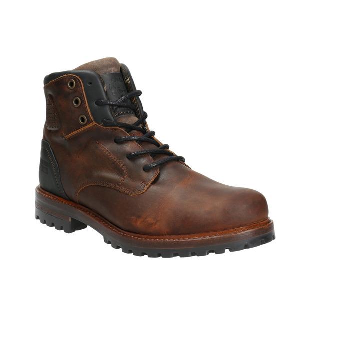 Kožená pánska obuv s masívnou podrážkou bata, hnedá, 896-4665 - 13