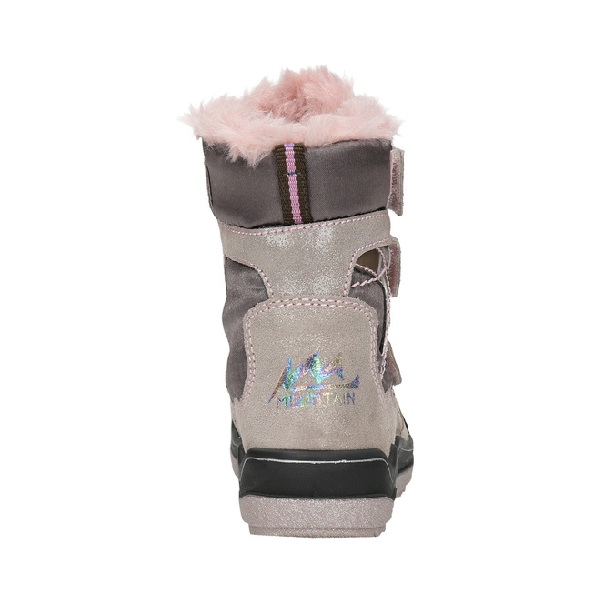 Ružová dievčenská zimná obuv mini-b, červená, 299-5613 - 17