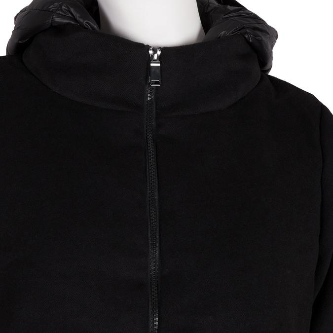 Dámska bunda s kapucou bata, čierna, 979-6163 - 16