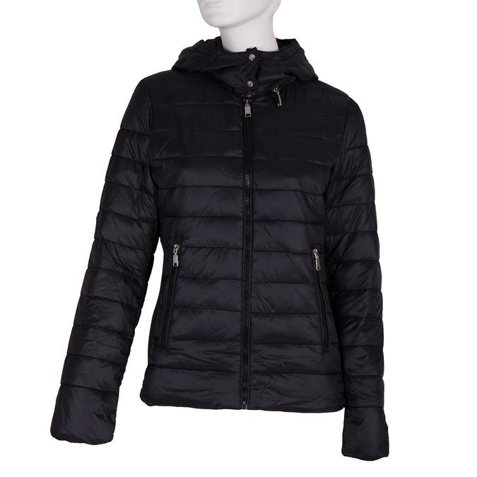 Dámska bunda s kapucou bata, čierna, 979-6159 - 13