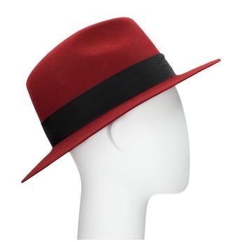 Červený klobúk z králičej srsti tonak, červená, 909-5649 - 13