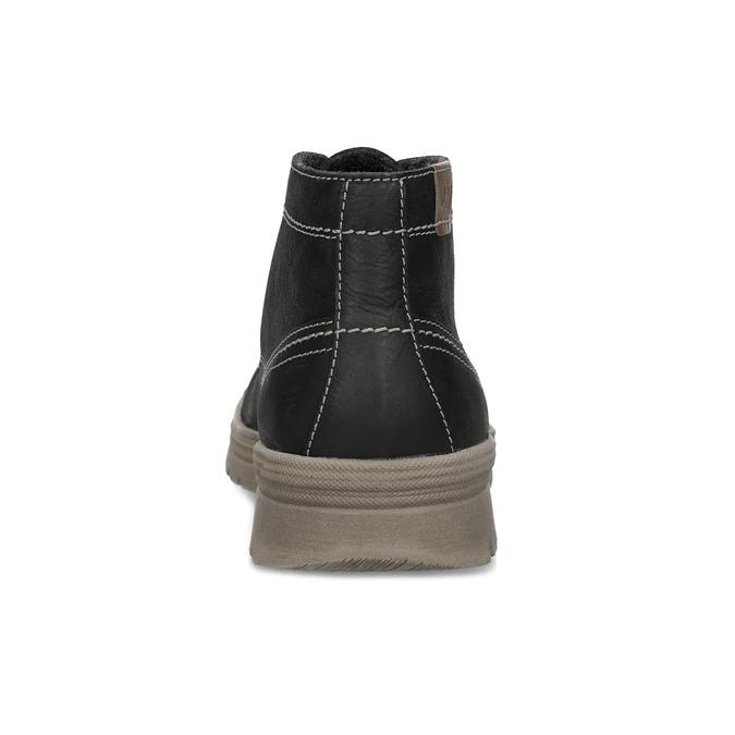Pánska zimná kožená obuv weinbrenner, čierna, 896-6107 - 15