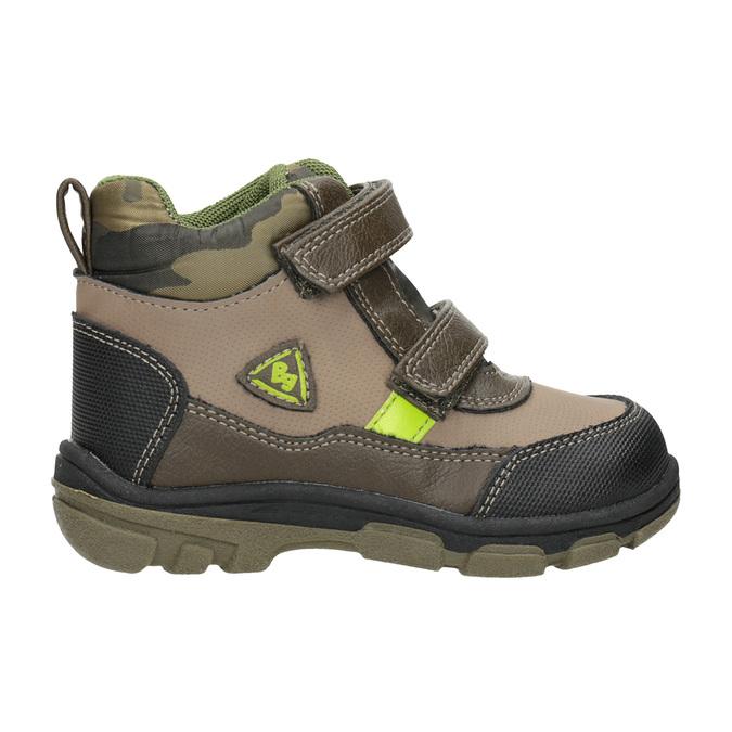 Detská zimná obuv na suchý zips bubblegummers, hnedá, 111-4623 - 26