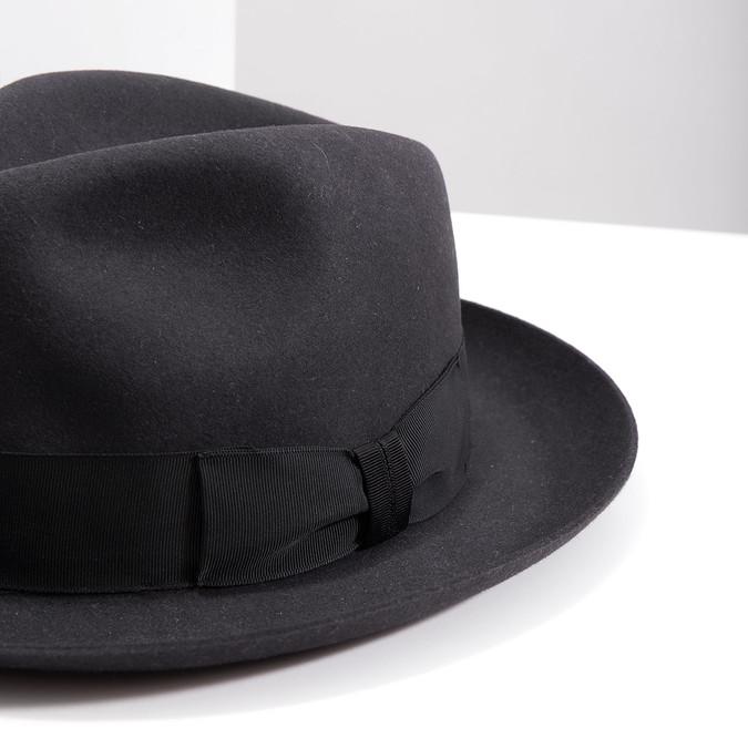 Čierny pánsky klobúk tonak, šedá, 909-2646 - 14