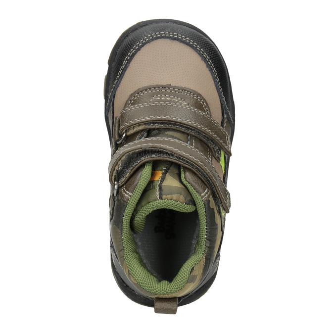 Detská zimná obuv na suchý zips bubblegummers, hnedá, 111-4623 - 15