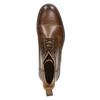 Kožená členková obuv so zateplením bata, hnedá, 896-4662 - 26