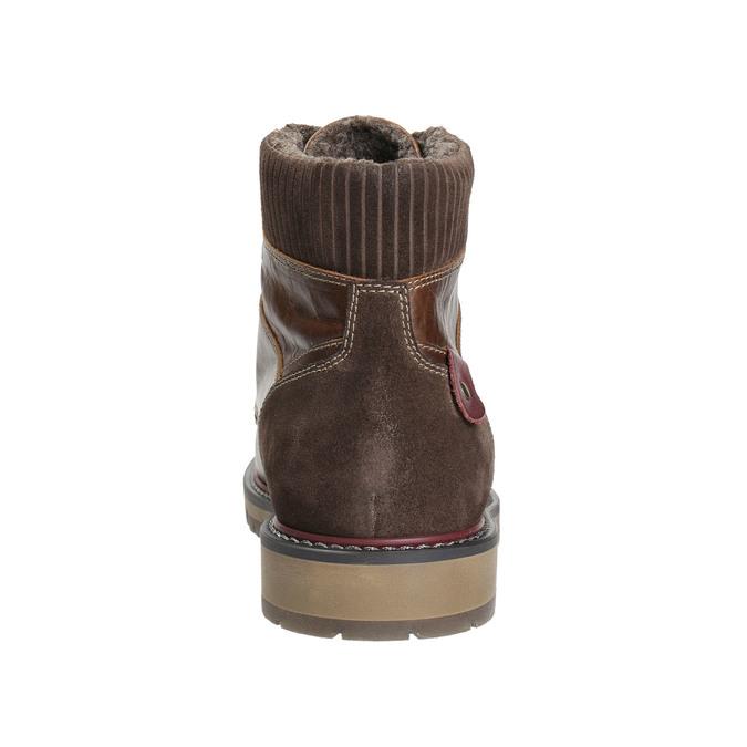 Pánska členková zimná obuv bata, hnedá, 896-4657 - 17