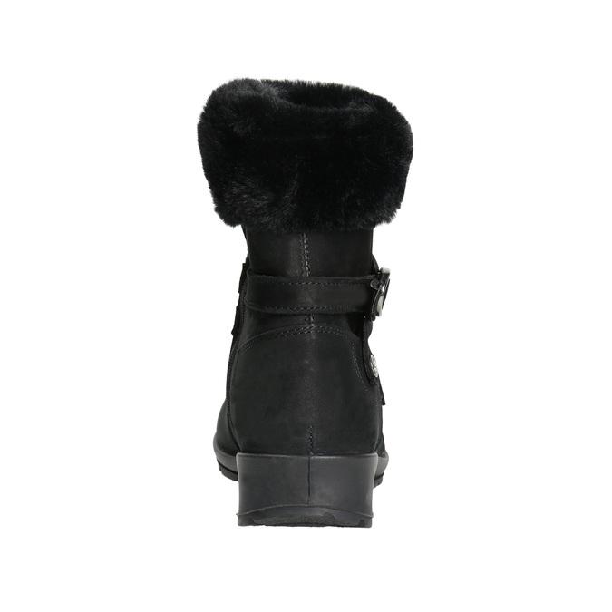 Dámska zimná obuv s kožúškom comfit, čierna, 696-6623 - 17