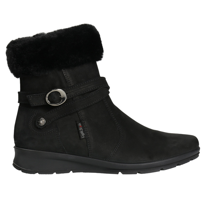 Dámska zimná obuv s kožúškom comfit, čierna, 696-6623 - 15