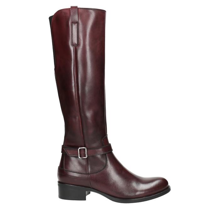 Kožené čižmy s prackou bata, červená, 596-5665 - 15