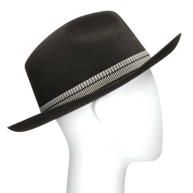 Tmavo hnedý pánsky klobúk tonak, hnedá, 909-4654 - 13