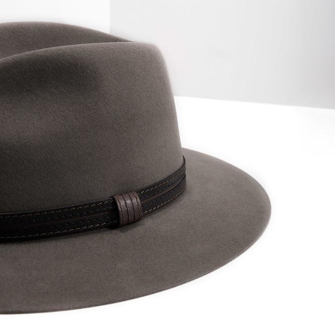 Pánsky klobúk z králičej srsti tonak, hnedá, 909-3650 - 14