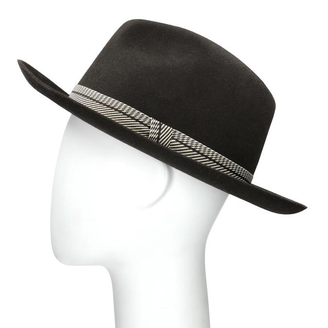 Tmavo hnedý pánsky klobúk tonak, hnedá, 909-4654 - 26