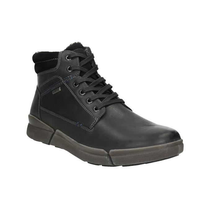 Pánska kožená zimná obuv bata, čierna, 896-6672 - 13