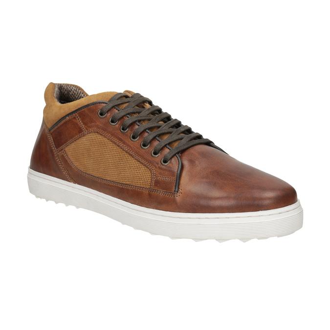 Pánske kožené tenisky bata, hnedá, 846-3643 - 13