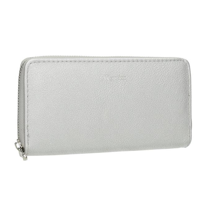 Strieborná dámska peňaženka bata, strieborná, 941-2155 - 13