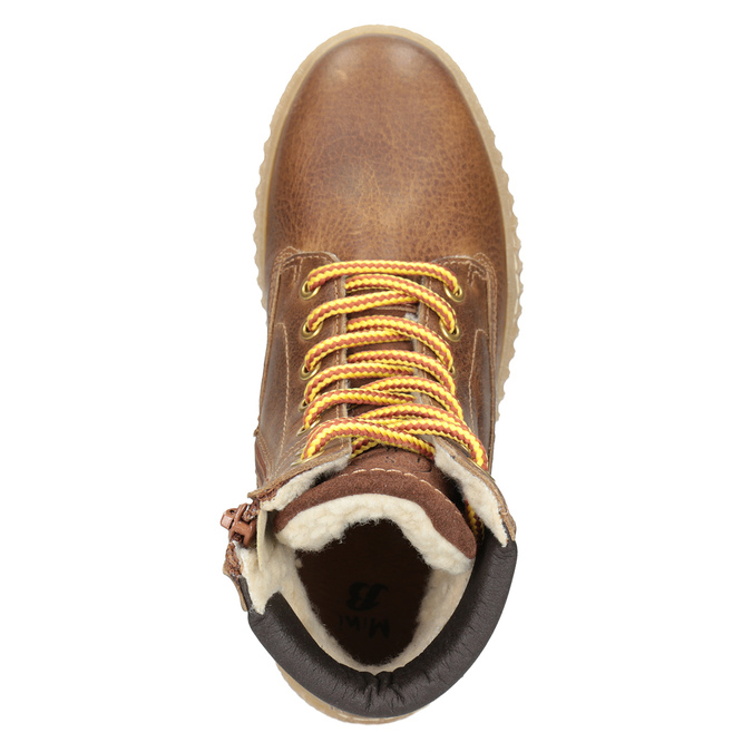 Hnedá detská zimná obuv mini-b, hnedá, 496-4620 - 15