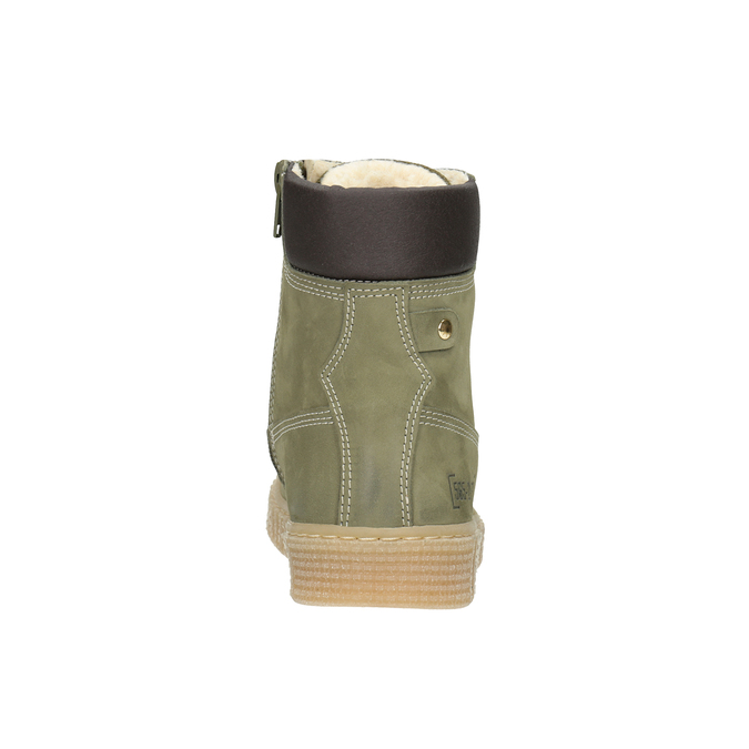 Detská zimná obuv so zateplením mini-b, zelená, 496-3620 - 16