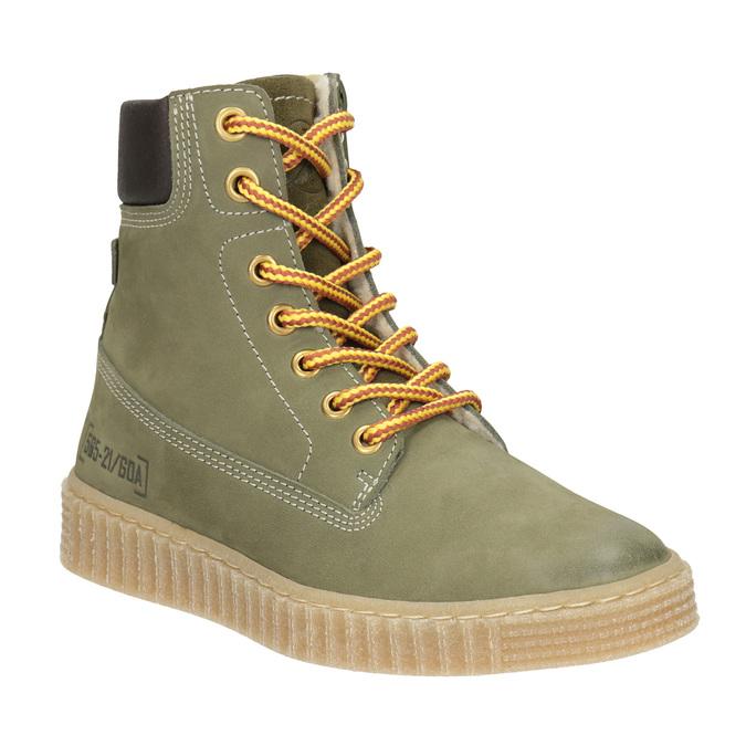 Detská zimná obuv so zateplením mini-b, zelená, 496-3620 - 13