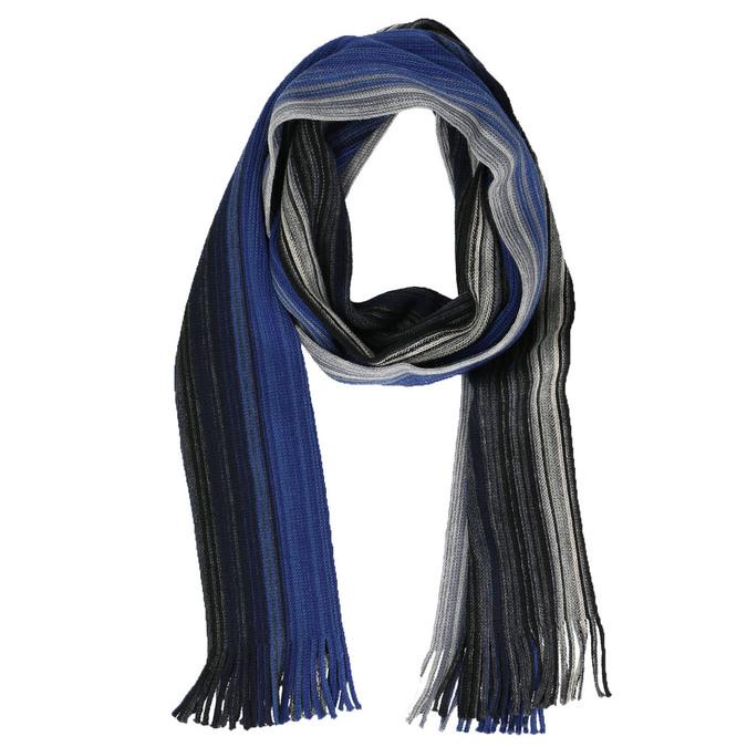 Pánsky modrý šál s prúžkami bata, modrá, 909-9617 - 13