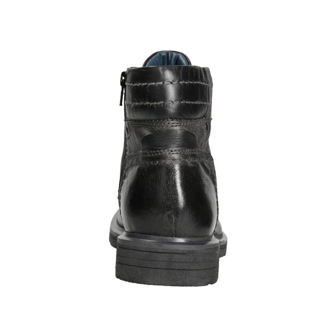 Kožená pánska zimná obuv bata, šedá, 896-2682 - 16